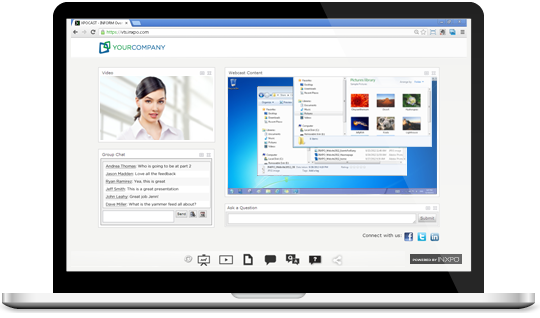 INXPO Webcast Interface